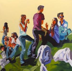 Von Schafen und Menschen I, 2017, Acryl/Canvas